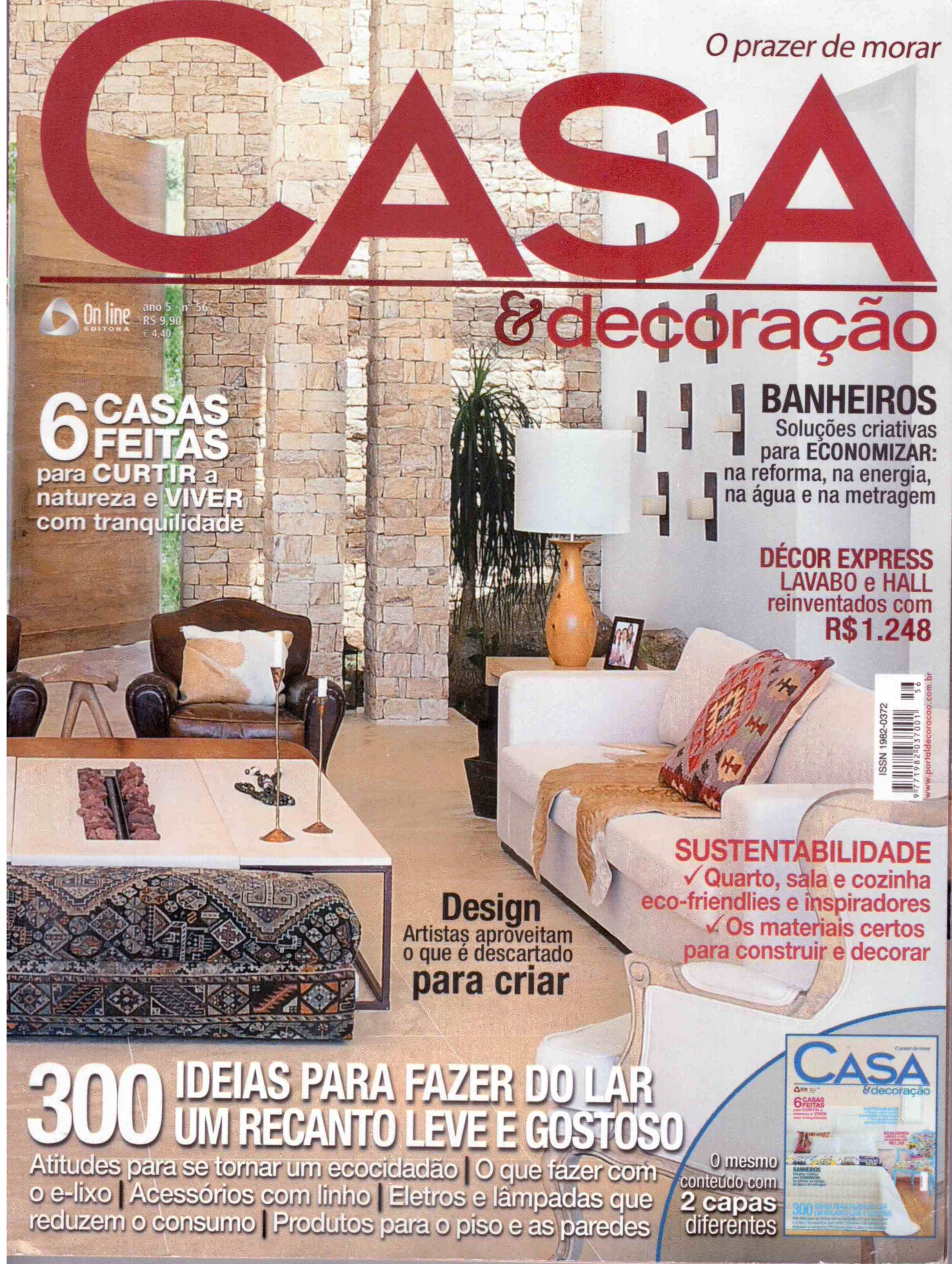 decoracao alternativa de casas : decoracao alternativa de casas:CASA ALTERNATIVA na REVISTA CASA & DECORAÇÃO